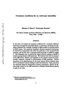 Necessary conditions for an AdS-type instability