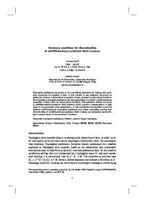 Necessary conditions for discontinuities of multidimensional persistent
