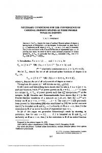 NECESSARY CONDITIONS FOR THE CONVERGENCE OF ...