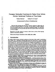 Necessary Optimality Conditions for Higher-Order Infinite Horizon