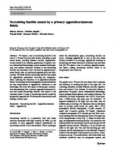 Necrotizing fasciitis caused by a primary ... - Springer Link