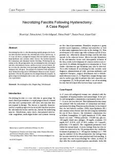 Necrotizing Fasciitis Following Hysterectomy: A Case Report