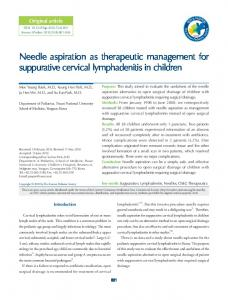 Needle aspiration as therapeutic management for