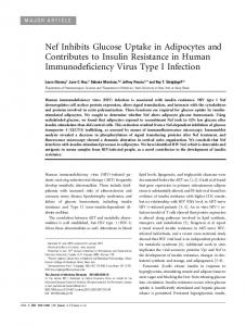 Nef Inhibits Glucose Uptake in Adipocytes and ... - Oxford Journals
