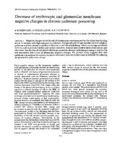 negative charges in chroniccadmium poisoning - Europe PMC