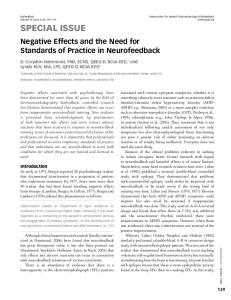 Negative Effects And The Need For Standards Of Practice In