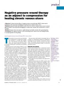 Negative pressure wound therapy as an adjunct to compression for ...