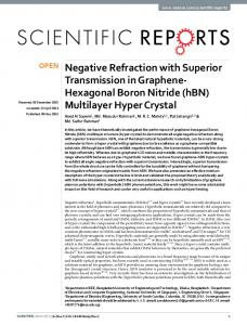 Negative Refraction with Superior Transmission in ... - CyberLeninka