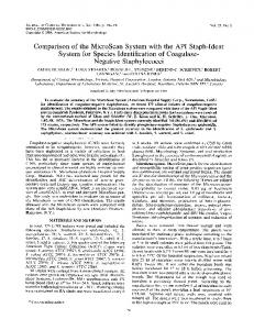 Negative Staphylococci - Journal of Clinical Microbiology - American ...