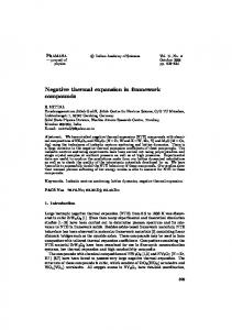 Negative thermal expansion in framework compounds