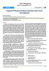 Neglected Physical Evidence during Crime Scene ...