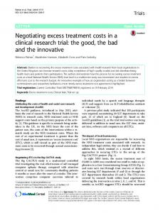 Negotiating excess treatment costs in a clinical research trial - Core