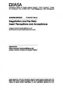 Negotiation and the Web: Users' Perceptions and ... - Semantic Scholar