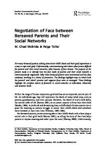 Negotiation of Face between Bereaved Parents and