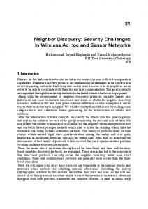 Neighbor Discovery: Security Challenges in ... - Macquarie University