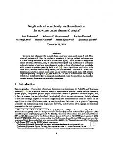Neighborhood complexity and kernelization for nowhere ... - MIMUW