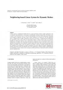 Neighboring-based Linear System for Dynamic Meshes