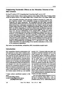 Neighboring-Nucleotide Effects on the Mutation Patterns ... - CiteSeerX