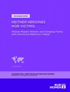 neither heroines nor victims - ICIMOD