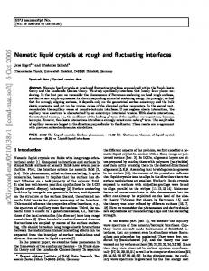Nematic liquid crystals at rough and fluctuating interfaces