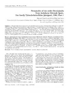 Nematodes of the order Dorylaimida from Andalucia oriental ... - Horizon