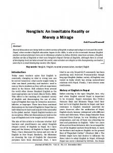 Nenglish: An Inevitable Reality or Merely a Mirage - NepJOL