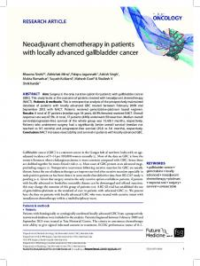 Neoadjuvant chemotherapy in patients with locally ...