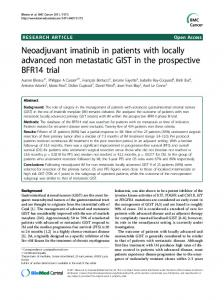 Neoadjuvant imatinib in patients with locally ... - BioMedSearch