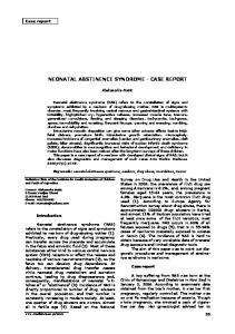 neonatal abstinence syndrome - case report
