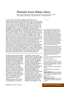 Neonatal Acute Kidney Injury - Pediatrics