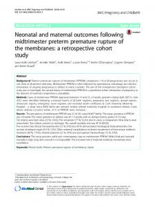 Neonatal and maternal outcomes following midtrimester ... - Core
