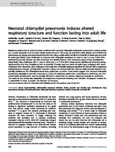 Neonatal chlamydial pneumonia induces altered respiratory ... - Nature