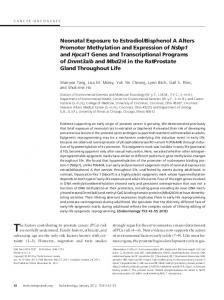 Neonatal Exposure to Estradiol/Bisphenol A Alters Promoter ...