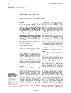 Neonatal head injuries - Europe PMC