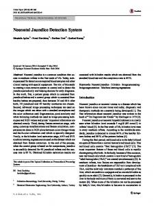 Neonatal Jaundice Detection System | SpringerLink