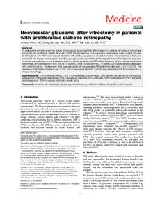 Neovascular glaucoma after vitrectomy in patients with proliferative