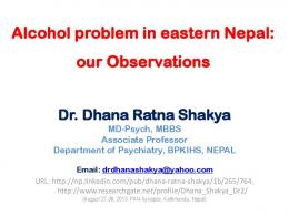 Nepalese Psychiatry