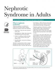 Nephrotic Syndrome in Adults (NIDDK)