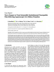 Nerve Surgery to Treat Intractable Genitofemoral Neuropathic Pain ...