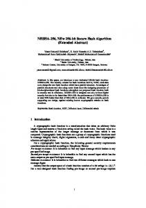 NESHA-256, NEw 256-bit Secure Hash Algorithm - Cryptology ePrint ...