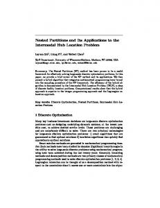 Nested Partitions and Its Applications to the