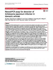 Nested-PCR assay for detection of Schistosoma japonicum infection in ...