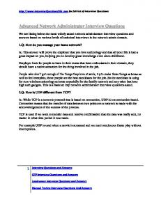 Network Administrator interview questions pdf - Important Job ...
