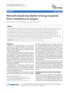 Network based elucidation of drug response: from ... - BioMedSearch