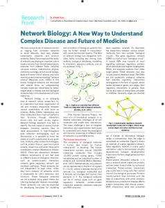 Network Biology: A New Way to Understand Complex Disease and ...