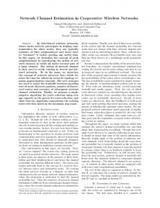 Network Channel Estimation in Cooperative Wireless ... - Rice ECE