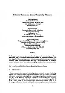 Network Classes and Graph Complexity Measures - Semantic Scholar