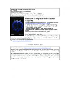 Network: Computation in Neural Systems