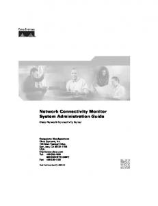 Network Connectivity Monitor System Administration Guide - Cisco