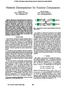 Network Decomposition for Function Computation - IEEE Xplore